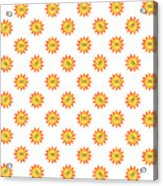 Sunshine Daisy Repeat Acrylic Print