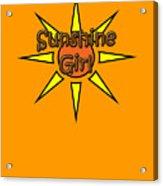 Sunshine Girl Acrylic Print