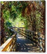 Sunshine On The Boardwalks Acrylic Print