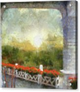 Sunshine On The Grand Hotel Mackinac Island Michigan Pa 01 Acrylic Print