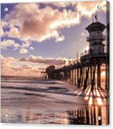 Sunshine Pier Acrylic Print