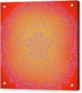 Sunshine Purple Mandala Acrylic Print