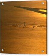 Sunshine Skyway Bridge At Sunset Acrylic Print