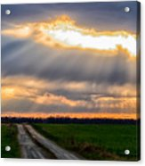 Sunshine Through The Clouds Acrylic Print