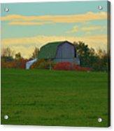 Sunsset On A Barn Acrylic Print