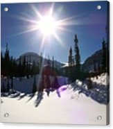 Sunstar Throws Long Shadows Acrylic Print