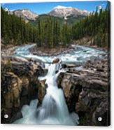 Sunwapta Falls In Jasper National Park Acrylic Print