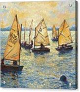 Sunwashed Sailors Acrylic Print