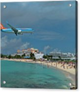 Sunwing Airline At Sxm Airport Acrylic Print