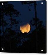 Super Blue Blood Moon Partial Eclipse Acrylic Print