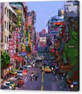 Super Colorful City Acrylic Print
