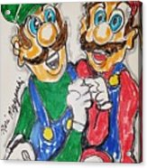 Super Mario Brothers Acrylic Print