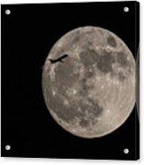 Super Moon And Plane Acrylic Print