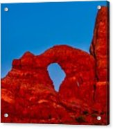 Super Moon Over Arches National Park Acrylic Print