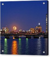 Super Moon Over Boston Acrylic Print by Juergen Roth