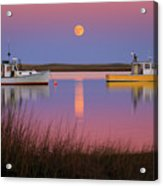 Super Moon Over Nauset Beach Cape Cod National Seashore Acrylic Print