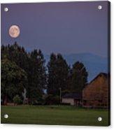 Super Moon Over Snohomish Acrylic Print