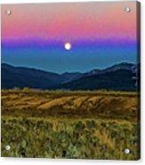 Super Moon Over Taos Acrylic Print