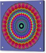 Super Rainbow Mandala Acrylic Print