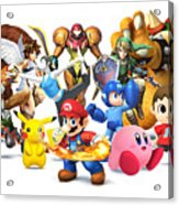 Super Smash Bros. For Nintendo 3ds And Wii U Acrylic Print