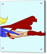 Supergirl On A Cruz Acrylic Print by Lynn Rider
