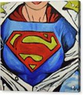 Supergirl Acrylic Print