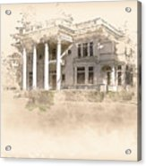 Superintendent's Home Drawing Acrylic Print