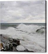 Superior Wild Waves Acrylic Print