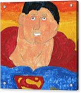 Superman Acrylic Print by Don Larison