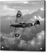 Supermarine Spitfire Vb Black And White Version Acrylic Print