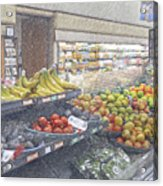 Supermarket Produce Section Acrylic Print