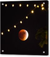 Supermoon And Twinkle Lights Acrylic Print