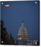 Supermoon Over Washington, Dc Acrylic Print