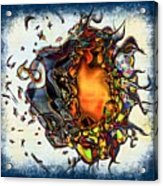 Supernova In Harlequin Acrylic Print