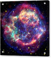 Supernova Remnant Cassiopeia A Acrylic Print by Stocktrek Images