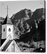 Superstition Mountain And Elvis Church Acrylic Print