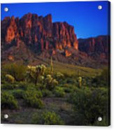 Superstition Mountain Sunset Acrylic Print