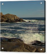 Surf At Nubble Light Acrylic Print