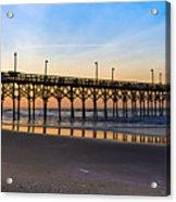 Surf City Fishing Pier Acrylic Print