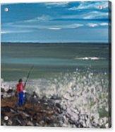 Surf Fishin Acrylic Print