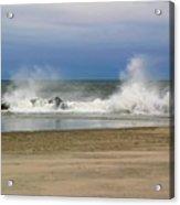 Surf Hitting Rocks 2 Acrylic Print