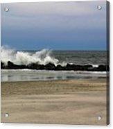Surf Hitting Rocks 3 Acrylic Print