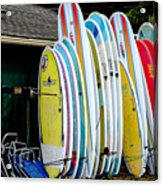 Surf Lessons Acrylic Print