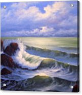 Surf Melody Acrylic Print by Francine Henderson