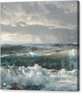 Surf On The Rocks Acrylic Print