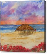 Surf Solitude Acrylic Print