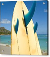 Surfboard Acrylic Print by Dana Edmunds - Printscapes