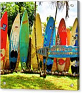 Surfboard Fence II-the Amazing Race Acrylic Print