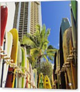 Surfboard Stack Acrylic Print