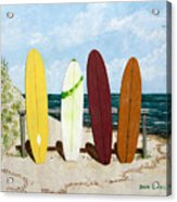 Surfboards Acrylic Print
